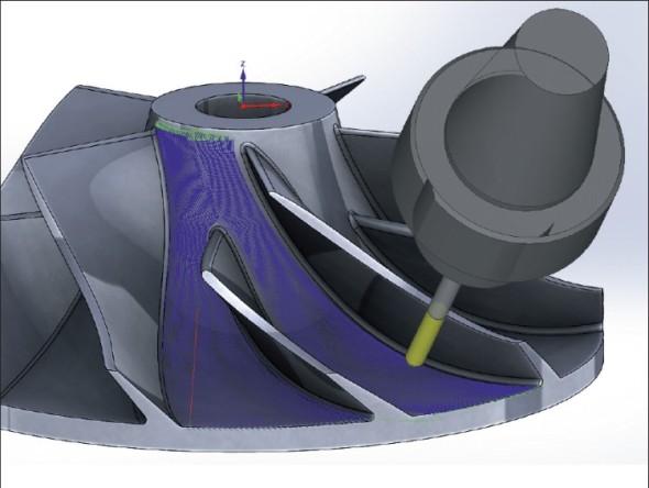 InventorCAM 14 nabídne dvě nové funkce pro úlohy víceosého obrábění lopatkových kol a vnitřních tvarových kanálů.