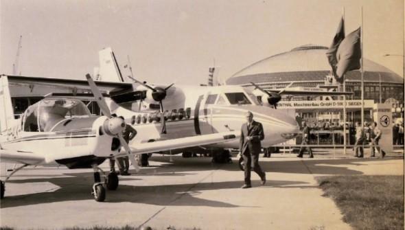 Turbovrtulový dopravní letoun L 410 M Turbolet byl v roce 1978 společným exponátem uherskohradišťského Letu a VÚZL z Prahy.