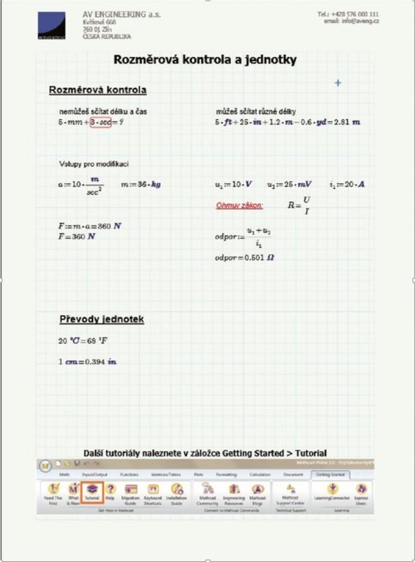Mathcad Prime dokáže pomoci s výpočty nejen jejich řešením, ale také díky schopnosti zachovat know-how použitých postupů.