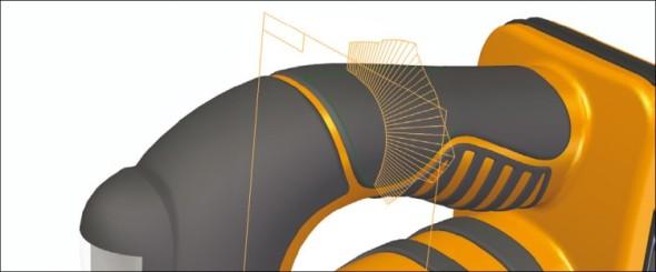 K navrhování atraktivnějších průmyslových výrobků přispívají nástroje pro tvorbu a úpravy složitých ploch.