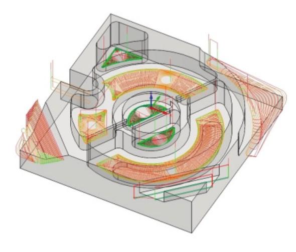 Návrh obráběcí strategie v SolidCAMu.