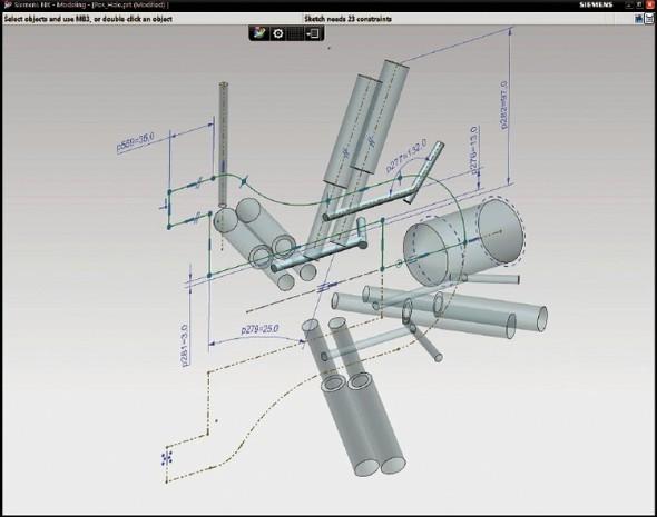 Nový pracovní postup umožňuje rozvrhnout otvory tak, aby přesně odpovídaly příslušnému výkonu a funkci, vytvořit okolní prostředí a podpůrnou geometrii, a potom tvary otvorů odstranit.