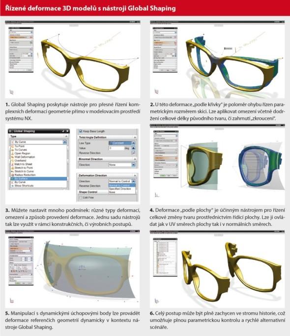 Řízené deformace 3D modelů s nástroji Global Shaping