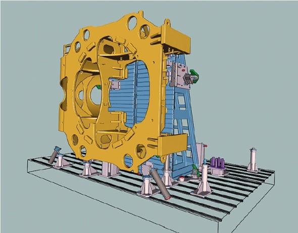 Ukázka velké sestavy zpracované v systému VariCAD.