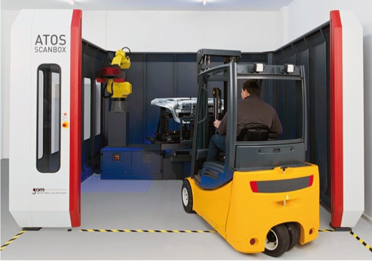 Automatizované 3D měření se systémem Atos ScanBox