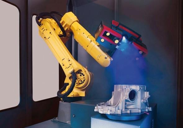 Skenovacím zařízením je 3D optický skener Atos Triple Scan s novou technologií modrého světla. Robot je vždy vybraný podle optimálního dosahu, nosnosti a možnosti skrytého vedení kabeláže.