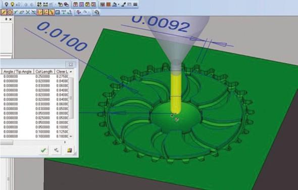 Simulace mikrofrézování v aplikaci CimatronE. Foto: Cimatron