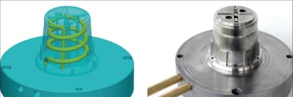 Kovový výrobek vytvořený technologií DMLS je přesnou kopii zdrojového CAD modelu.