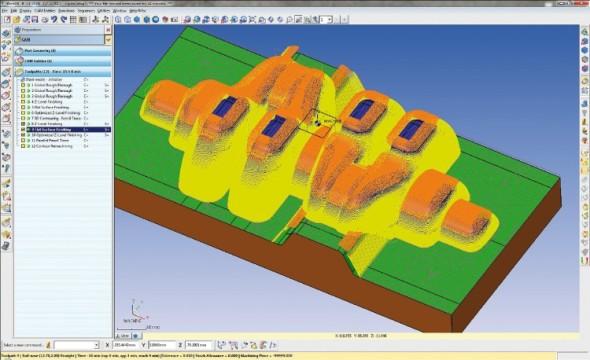Trajektorie nástroje vypočítaná v aplikaci WorkNC. Foto: Sescoi
