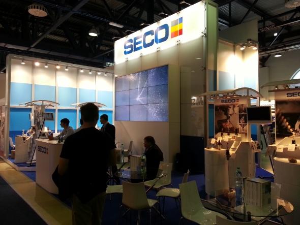 Expozice švédské společnosti Seco Tools.
