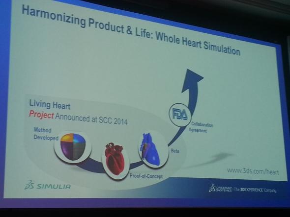 Historický vývoj projektu Living Heart uvedl na konferenci Simulia Community Conference 2015 Scott Berkey. Foto: Marek Pagáč