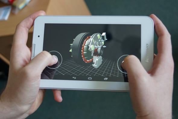 Vizualizace digitální modelu alternátoru. Foto: Jiří Pánek