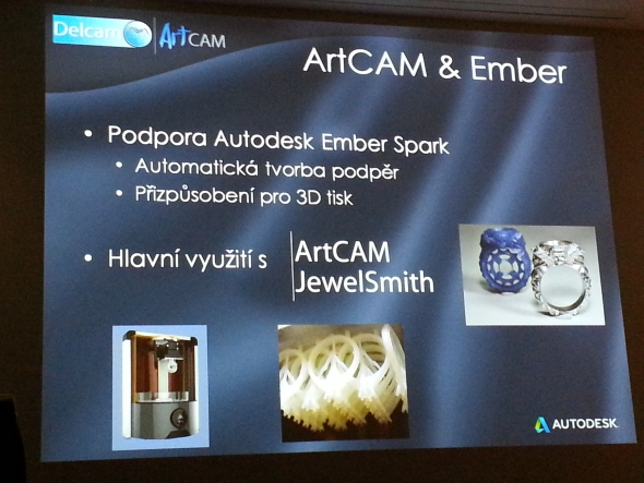 3D tiskárna Ember má přímou podporu Autodesk Ember Spark a využijete ji i při výrobě šperků vytvořených v ArtCAM JewelSmith.Foto: Marek Pagáč