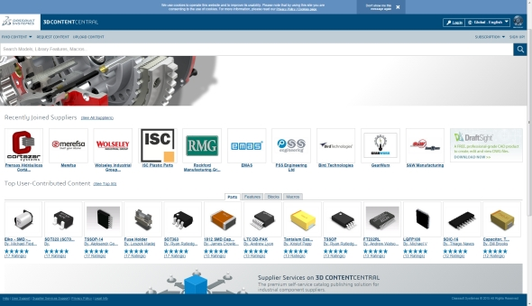 On-line katalog 3D ContentCentral modernizoval vzhled.