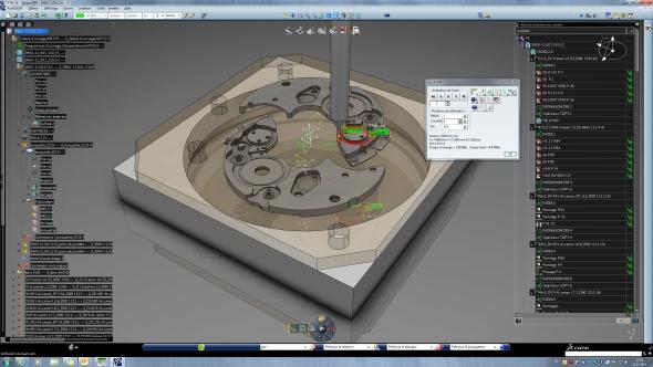 Programování dráhy nástroje pro CNC obráběcí stroj na části hodinového strojku zajistí Delmia V6 Machining. Foto: Eterna