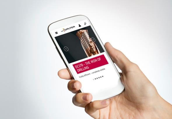 Web společnosti Walter AG modernizoval vzhled včetně responzivního chování. Foto: Walter AG