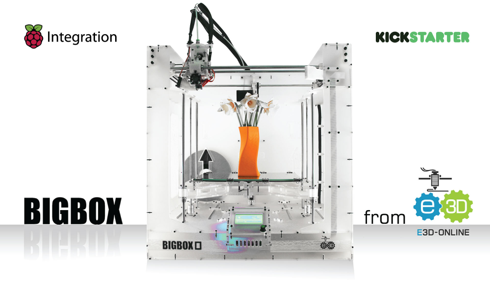Tiskárnu BigBox 3D provází velký zájem na Kickstarteru