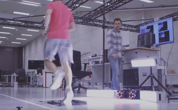 Systém Aramis snímal pohyb atleta.
