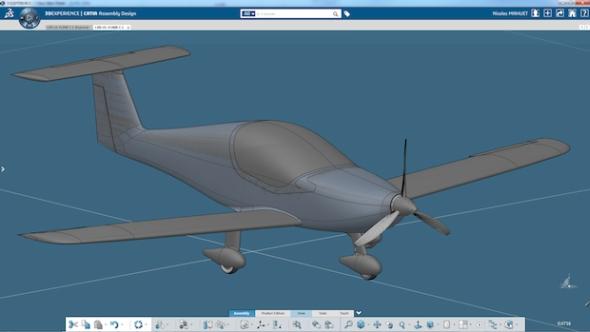 Dvoumístný letoun navrhnou konstruktéři ze společnost Elixir Aircraft na platformě 3D Experience. Foto: Dassault Systèmes.