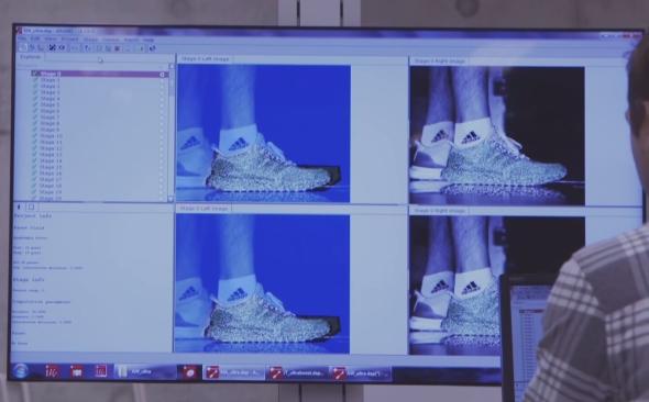 Neskenovaná data použila společnost Adidas k vývoji nové běžecké obuvi.