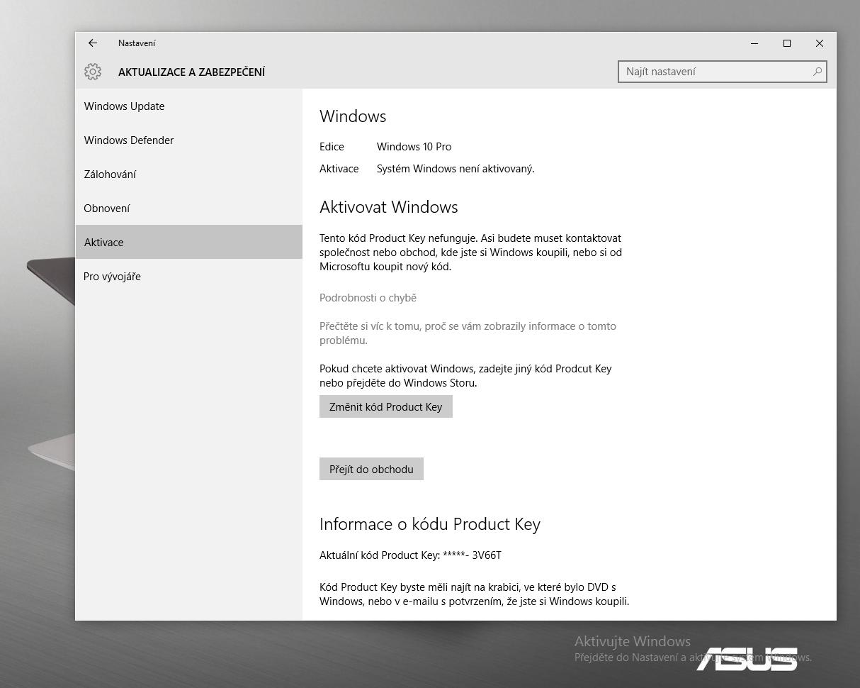 Návod: Co dělat, když vám nejde aktivovat Windows 10 a nefunguje Product Key