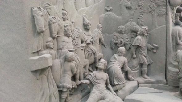 Model Betlému se podařilo vytisknout do nejmenších detailů