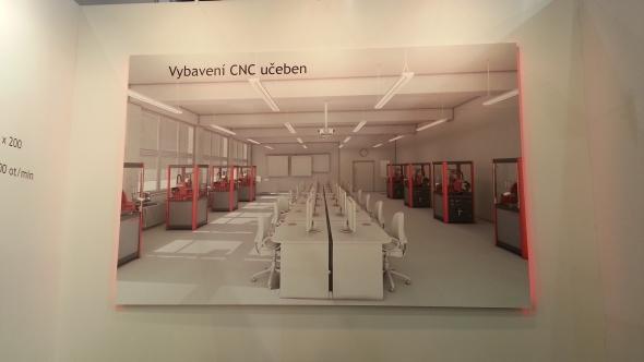 Návrh učebny osazené výukovými CNC obráběcími stroji