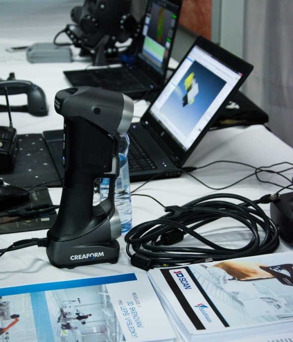 Oddělení 3D skenování společnosti SolidVision otevře dveře 15. října 2015 ve svém sídle.