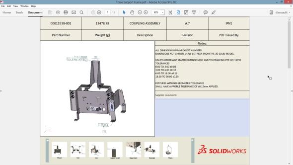 Stejně jako vrežimu modelování dílů můžete nyní i v sestavách vytvářet kóty a tolerance pomocí nástroje DimXpert