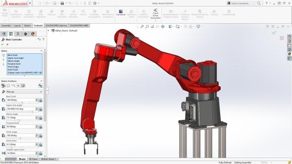 SolidWorks 2016 obsahuje rozšířená nastavení pro řízení vazeb