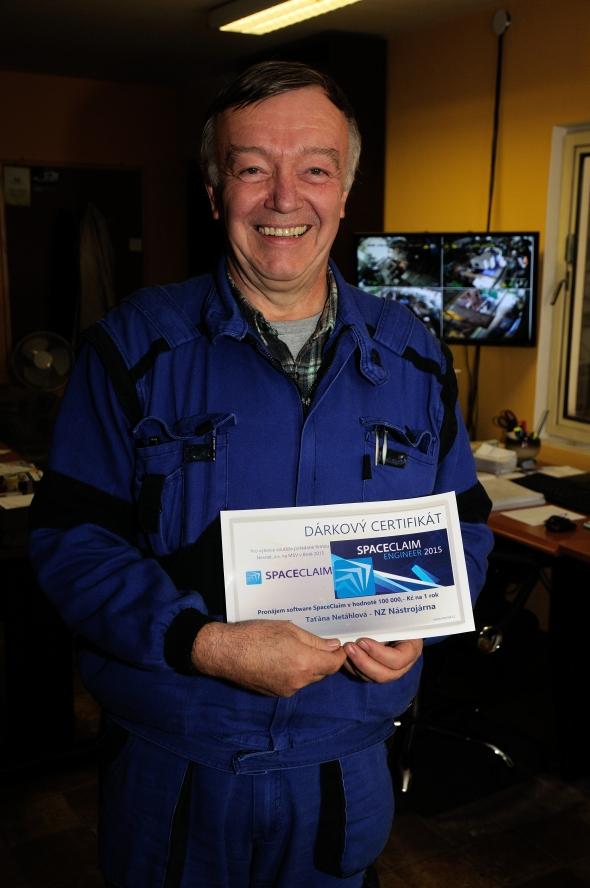 Šťastným výhercem v soutěži o CAD/CAM řešení za sto tisíc se stal František Nováček. Foto: Nexnet