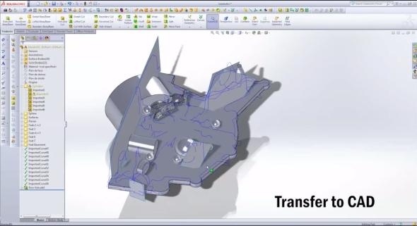 Vxmodel od Creaformu exportuje data přímo do SolidWorksu. Obr.: Creaform