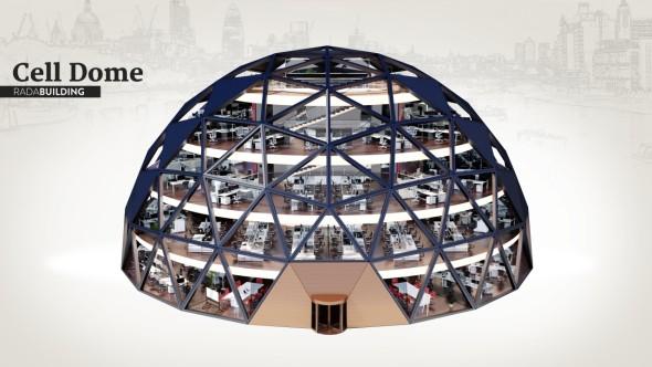 Druhý ročník soutěže CAD zdarma pro inovátoryvyhrál tým Rada Building s projektem Cell Dome (obrázek: Rada Building via CAD Studio)