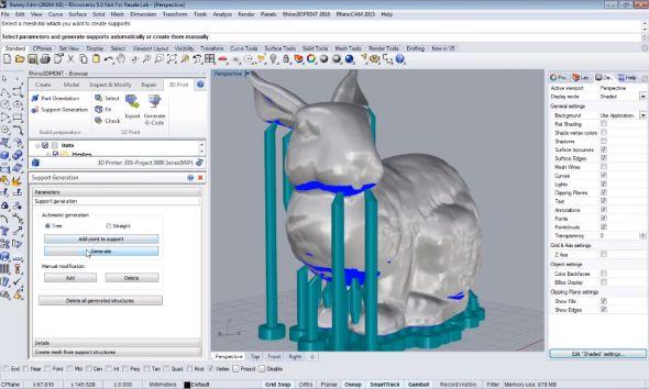 Příprava digitálních dat k 3D tisku v Rhoni3DPrint 2016. Obrázek: MecSoft.com