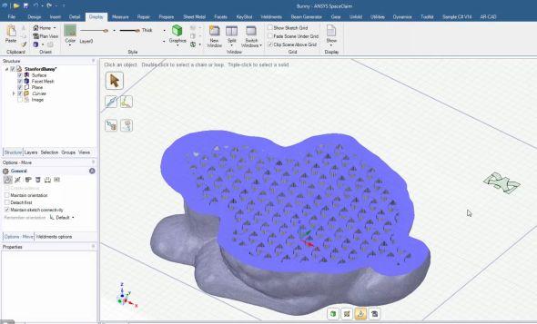 Sfunkcí Infill můžete navrhovat vlastní tvar výplně. Obrázek: SpaceClaim.com