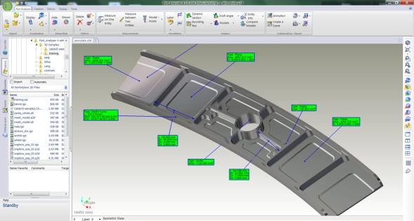 VEdgecam PartXplore změříte mj. plošný obsah. Foto: Egecam.com