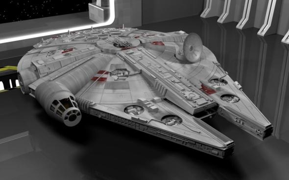 Nechejte si inspirovat například bitevní lodí Millennium Falcon. Vizualizace: Renderosity.com