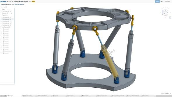 OnShape běží přímo v okně prohlížeče a nabízí nejen modelování dílů, které umí exportovat pro 3D tisk, ale také práci s celými mechanickými sestavami