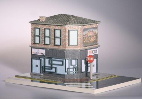 Fotorealistický tisk budovy