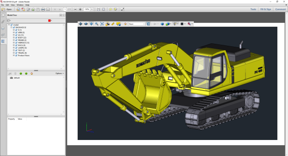 Modul <em>3D PDF Express for AutoCAD</em> od Dimension PDF generuje data ve formátu PDF. Obr.: Autodesk