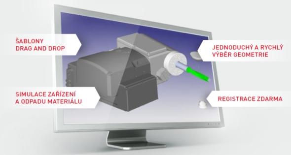 S řešením DCAMCUT v SolidWorksu můžete naprogramovat řezání drátem až v pěti osách