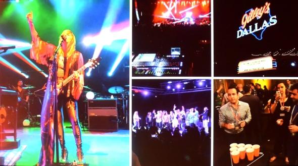 V úterý večer zpestřila uživatelské setkání zpěvačka Grace Potter v nedalekém baru Gillesy´s Dallas