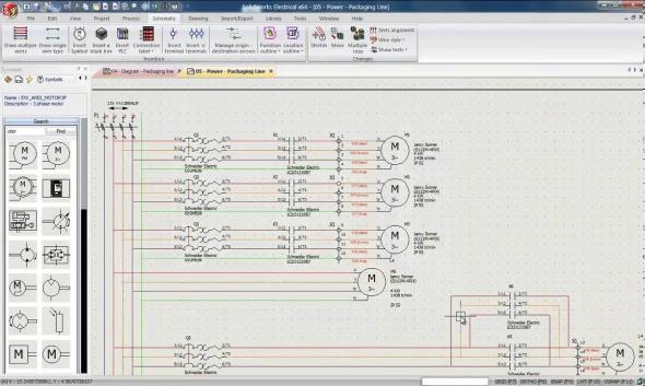 SolidWorks Electrical Schematic obsahuje nástroje pro navrhování elektroinstalací. Obrázek: SolidWorks