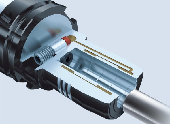 Řez hydraulickým upínačem Tendo E Compact