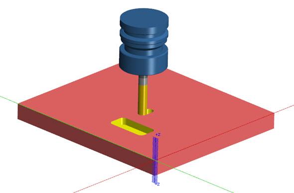 Simulaci můžete ověřit i v řešení Simulátor Mastercam. Klikněte pravým tlačítkem na Dráha nástroje v panelu Dráhy nástrojů – aplikace se spustí automaticky