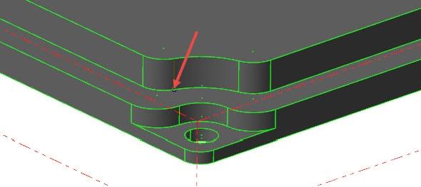 Označte bod koncový bod hrany ležící na spodní ploše první vrstvy