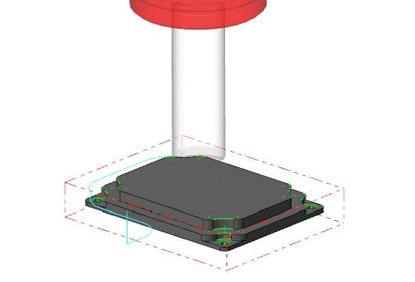Dráhu nástroje ověříte vrežimu simulace
