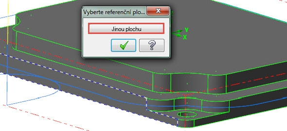 Upřesněte výběr plochy prostřednictvím tlačítka Jinou plochu