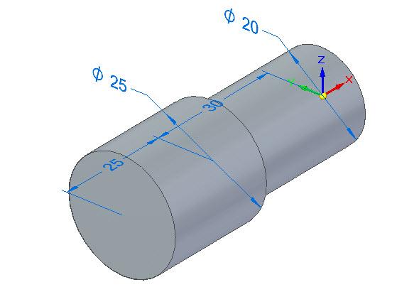 Zadejte ručně vzdálenost vysunutí 25 mm