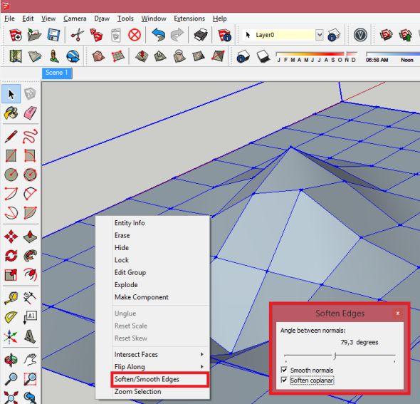 Soften/Smoothen Edges před použití funkce